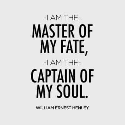 i am the master of my fate william ernest henley daily quotes sayings pictures 810x810 400x400