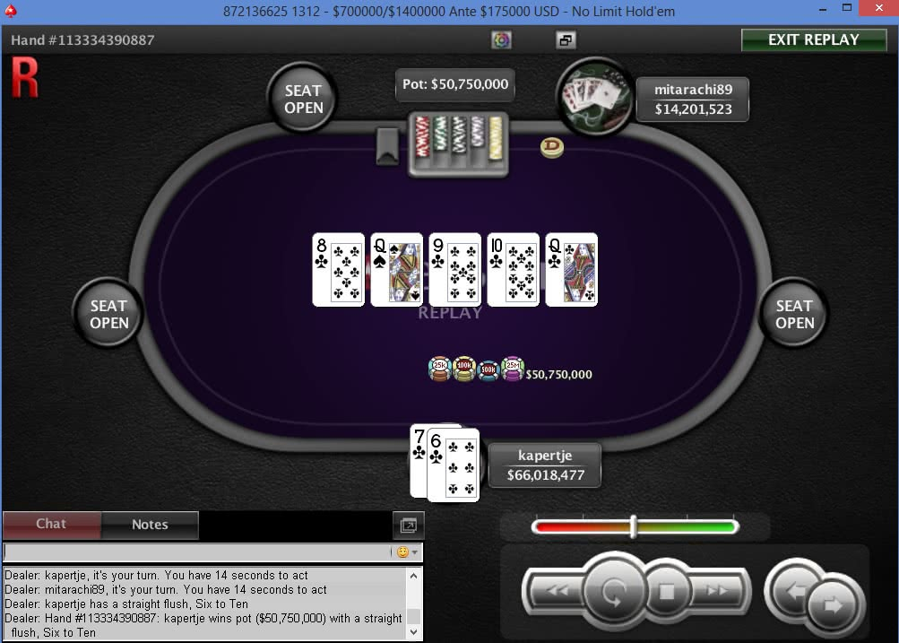 straight flush online poker