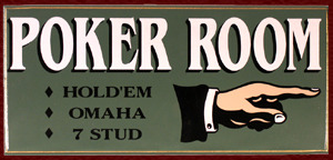 small poker room poker sign 6a48e