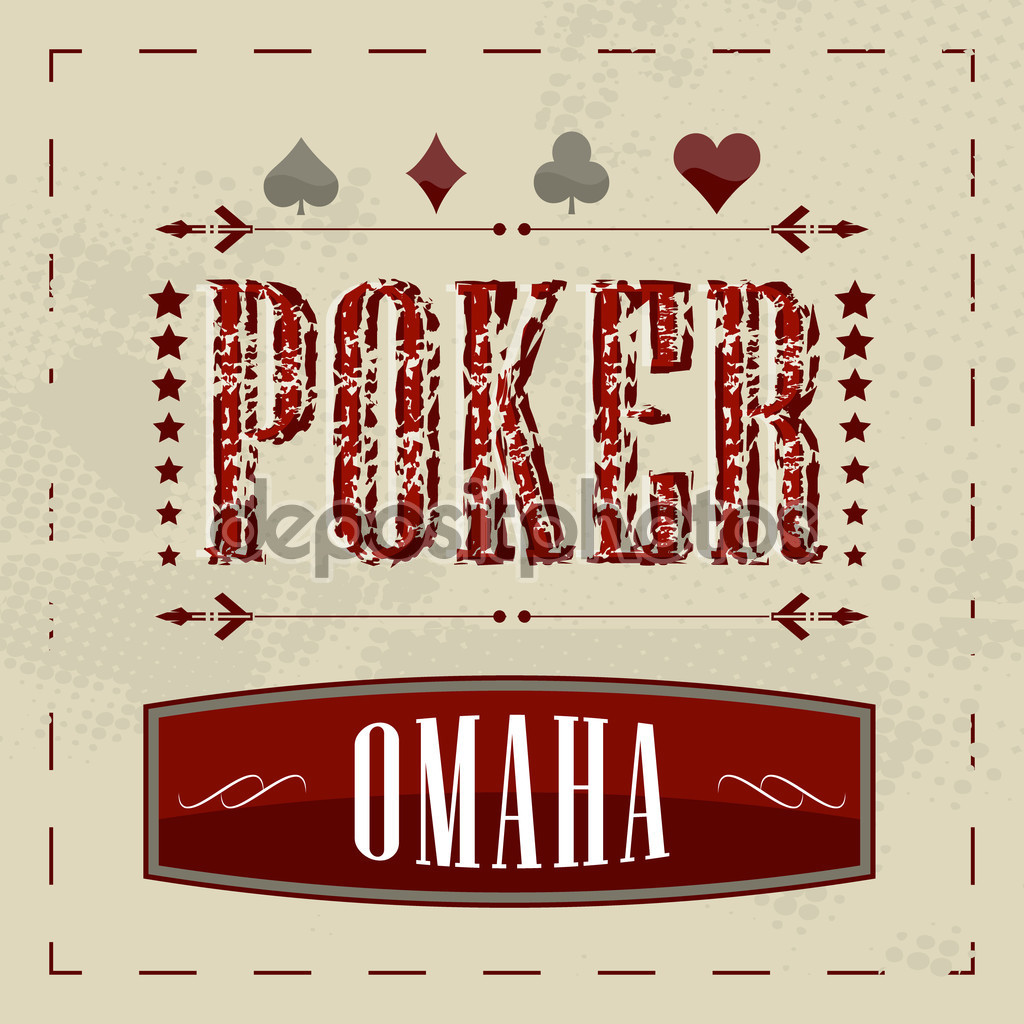 depositphotos 60607311 Omaha poker retro background for vintage design 3cea6