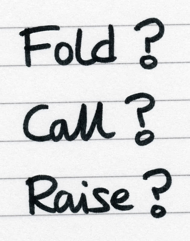 fold call raise poker